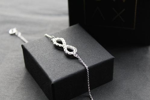 Cubic Zirconia Infinity Bracelet