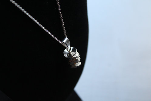 Textured Disc Vertical Necklace