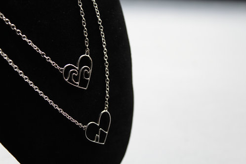 Love the  Mountains/Ocean Sterling Silver Necklace