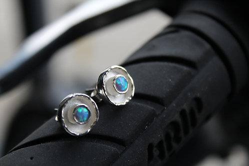Blue Opalite Silver  Studs