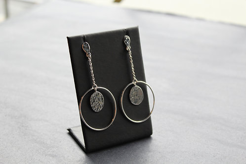 Textured Ring Drop Earrings