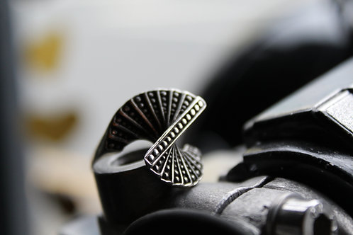 Sterling Silver Deco Ring