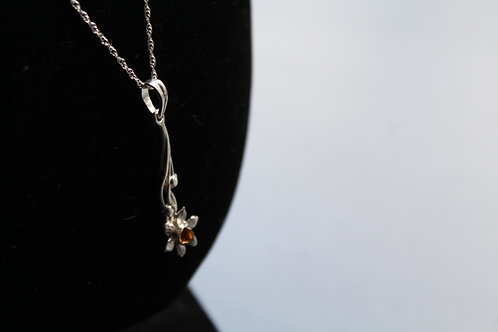 Silver and Gold Plated Daffodil Necklace