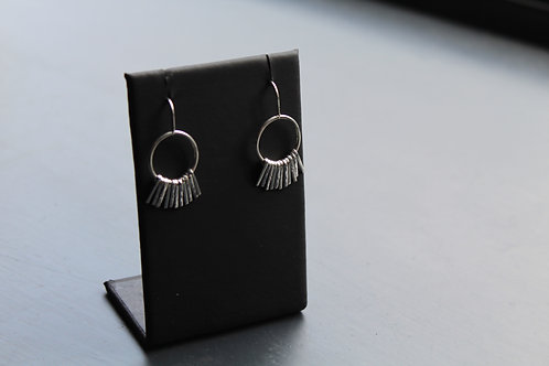 Sparks Silver Strand Small Earrings