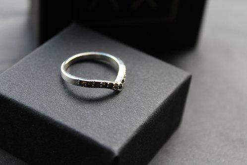 Marcasite Chevron Ring