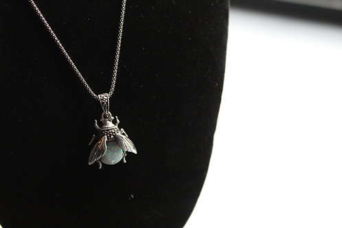 Sterling Silver Marcasite Beetle Pendant