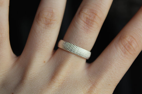 7mm Sterling Silver Dots Ring