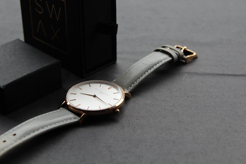 Ellie Beaumont Oxford Large Watch Grey Strap