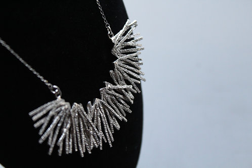 Large Textured Pine Designer Necklace