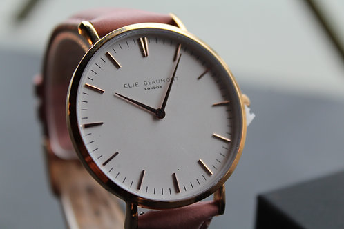 Elie Beaumont Oxford Large Watch Pink Strap