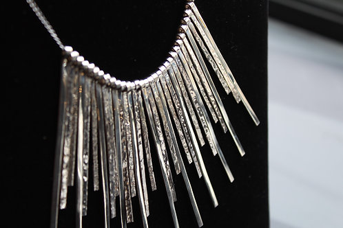 Large Sparks Silver Strand Necklace