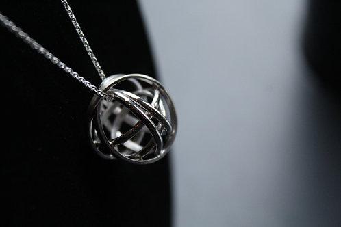"Medium Globe Pendant with 16""chain"