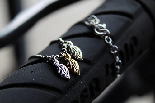 Two-Tone Triple Leaf Ankle Chain