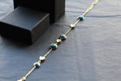 Copper Turquoise Bracelet