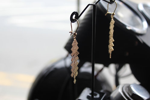 9ct Gold Geometric Drop Earrings