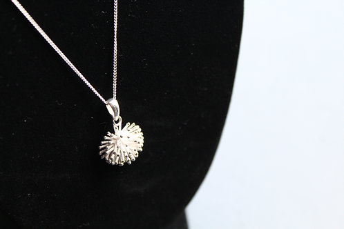 "Sterling Silver Urchin Pendant on an 18""Chain"