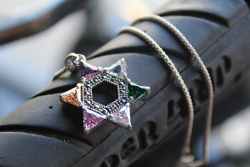 Star Of David Marcasite Pendant