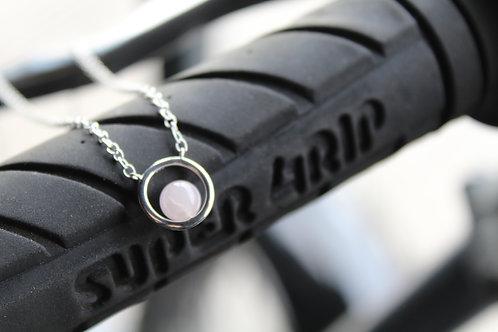 Silver & Rose Quartz Necklace
