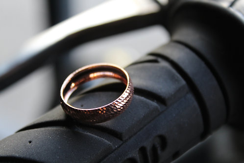 9ct Rose Gold Diamond Cut Band Ring