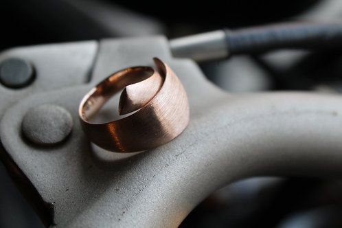 Brushed Rose Gold Wrap Around Ring