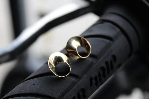 Swirl Gold Vermeil Stud Earrings