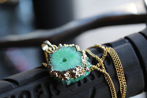 Green Stalactite Necklace