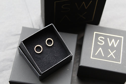 Rose Circle of Sparkle Studs
