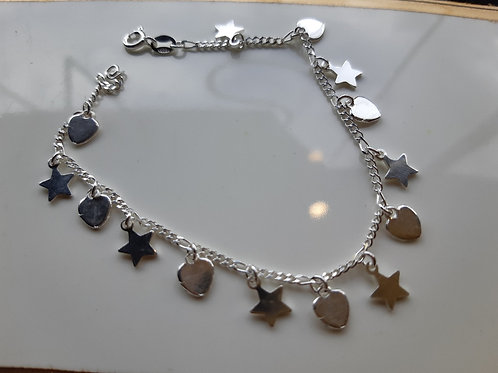 Star of my heart charm bracelet