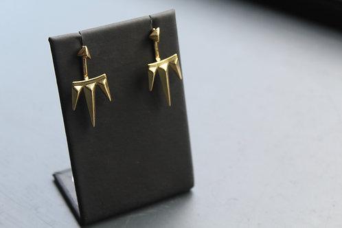 Gold Plated Spike Stud Earrings