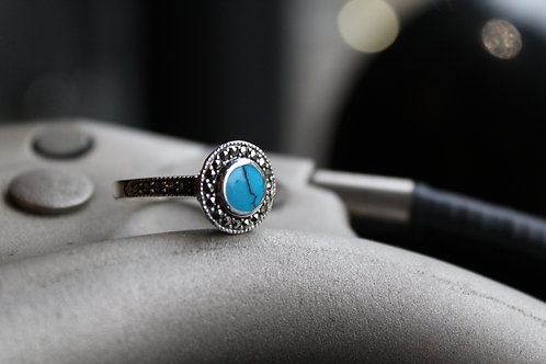 Marcasite Turquoise Ring