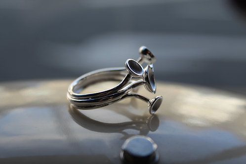 Sterling Silver Raised Cup Ring
