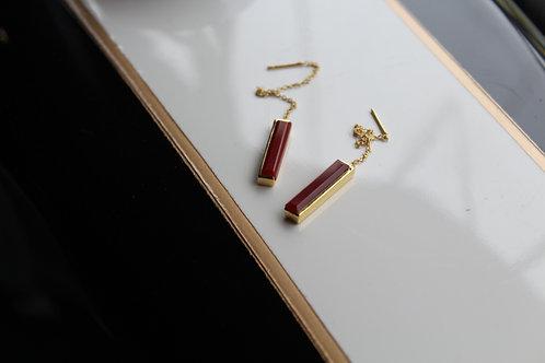 Red Onyx Drop Earrings