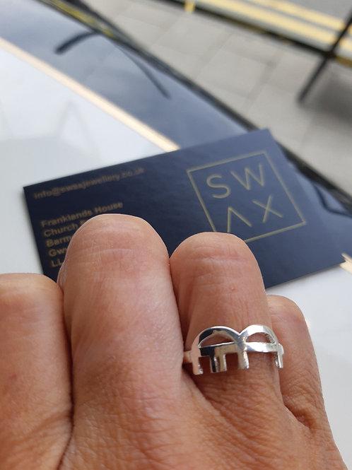 Barmouth Bridge Silver Rings