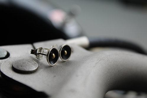 Oxidised Silver Stud Earring