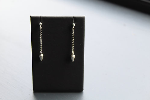 Silver Urbane Drop Earrings