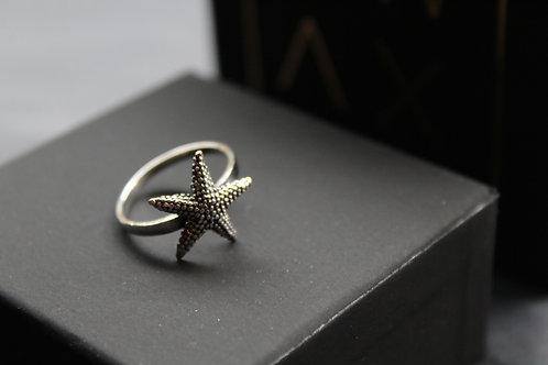 Silver Starfish Ring