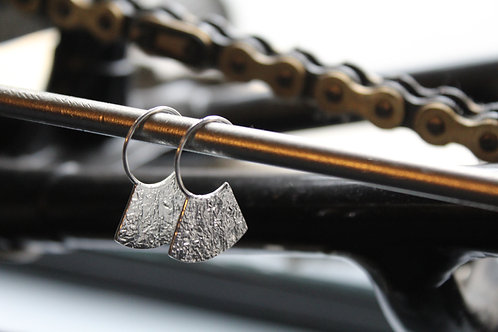 Silver Hammered Grecian Earrings