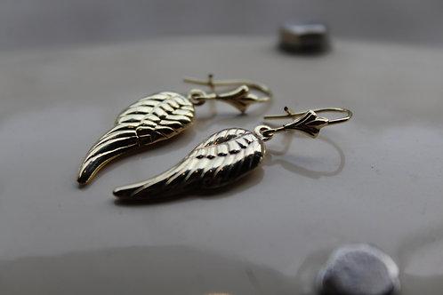 9ct Gold Angel Wing Earrings