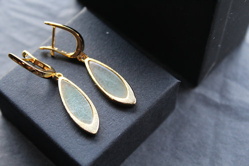 Green Aventurine Teardrop Earrings