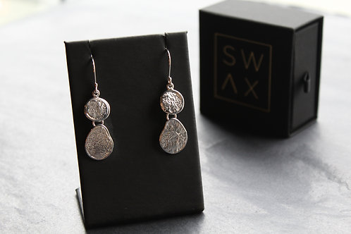 Textured Double Drop Earrings
