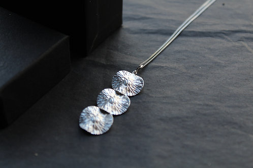 Textured Sterling Silver Triple Disc Pendant