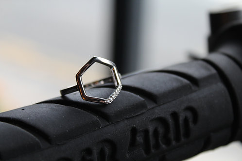 Sterling Silver Hex Ring
