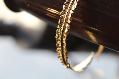 Fern Yellow Gold Vermeil Cuff Bracelet
