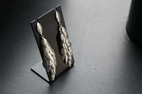 Multi Leaf Long Drop Earrings