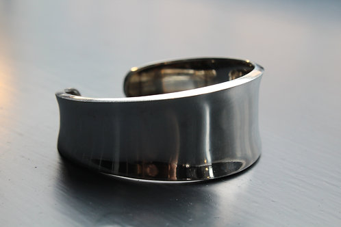 Large Sterling Silver Convex Cuff