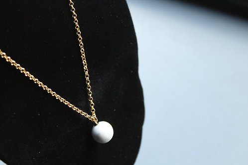 14ct Goldfill Howlite Pendant Necklace