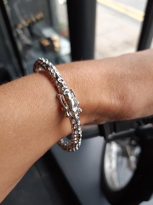 Silver hinged Rattle Bracelet