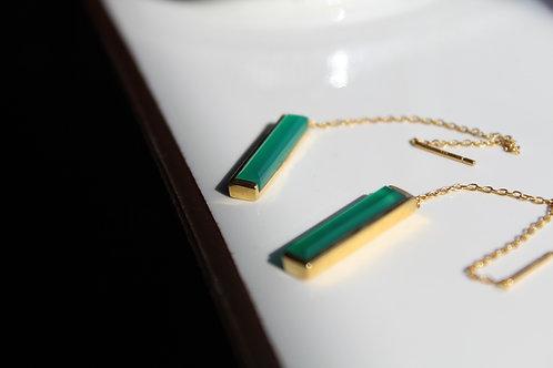 Green Onyx Drop Threaders