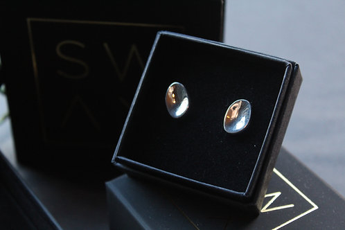 Designer Teardrop Polished Studs