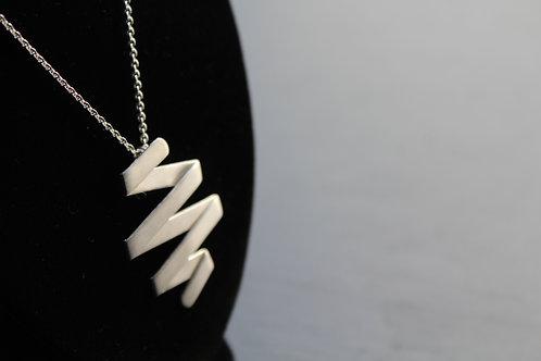 Matte Polish Zig Zag Necklace
